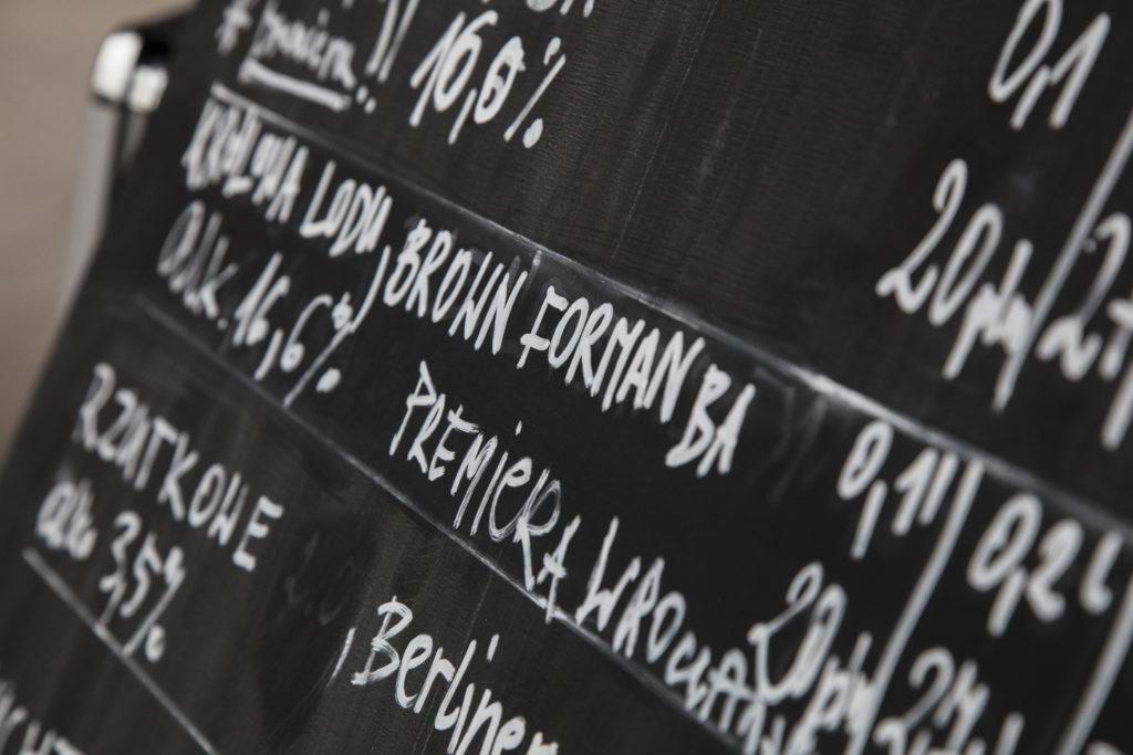 craft beers blackboard chalk